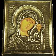 Vintage Orthodox Madonna with Child Miniature Religious Icon