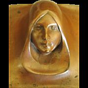 Vintage Art Deco Cast Copper Over Brass Figural