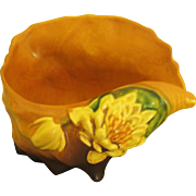 Roseville Water Lily Conch Shell Planter- 1940's