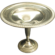 Elegant Vintage Empire New York Sterling Pedestal Compote