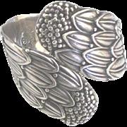Stunning Vintage Taxco Sterling Signed Villasana Cornflower Bracelet