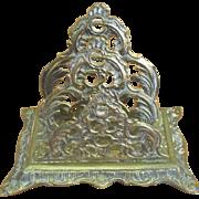 Ornate English 1880 Victorian Letter Holder