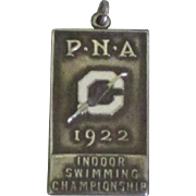 Vintage 1922 Sterling Silver Swimming Championship Medal