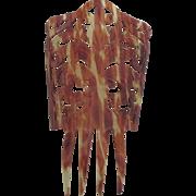 Elaborate Vintage Faux Tortoise Celluloid Hair Comb