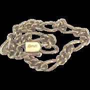 Vintage Signed Krementz Figaro Link Gold Fill Bracelet
