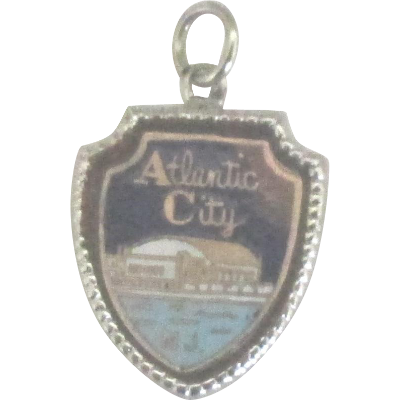 Vintage enamel sterling atlantic city nj charm del mar for Jewelry making classes san diego