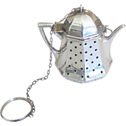 Charming Vintage Sterling Tea Pot Tea Infuser