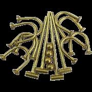 Vintage Miniature Brass Doll Size Miniature Croquet Set for 4