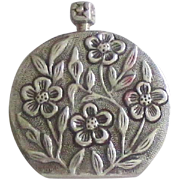 Lovely Sterling Repousse Perfume Bottle with Dauber