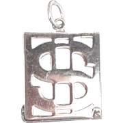 Vintage Sterling Mad Money Holder Charm