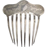 Lovely Early 1900's Sterling Hair Ornamental Comb