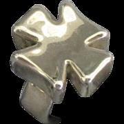 Chunky Bold Sterling Maltese Cross Ring