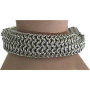 Fabulous Signed Thick Tubular Sterling Mesh Bracelet- 86 Grams!