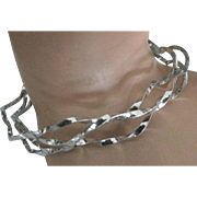 Gorgeous Twisted Sterling Triple Layer Bracelet