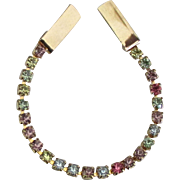Sparkling Vintage Pastel Rhinestone Sweater Guard or Clip
