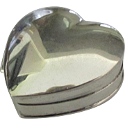 Lovely Vintage Sterling Hinged Heart Box