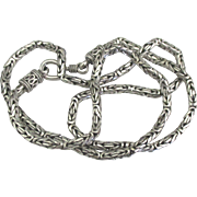 Lovely Sterling Byzantine Link 20 Inch Necklace