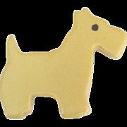 Adorable 1930's West Highland Terrier Dog Brooch