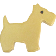 Adorable 1930's West Highland Terrier Dog Brooch