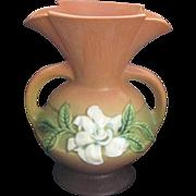 Vintage 1940's Roseville Magnolia Handled Vase