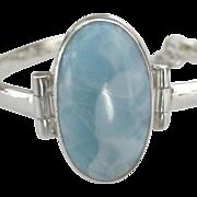 Stunning Large Blue Larimar Sterling Bracelet