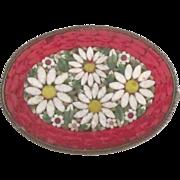 Pretty Vintage Italian Micro Mosaic Brooch