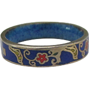 Early 1900's 10K Cloisonne Ring- Size 5 3/4