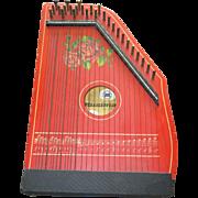 Vintage Mid Century German Zither Stringed Instrument