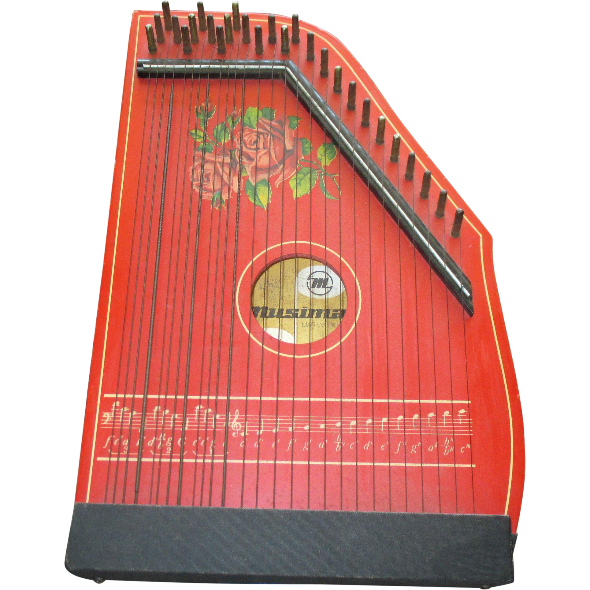 vintage mid century german zither stringed instrument from