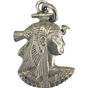 Vintage Sterling Nefertiti Pendant or Charm