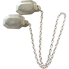 Vintage RB Sterling Sweater Guard or Collar Chain