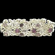 Vintage Amethyst Rhinestone Coro Bracelet