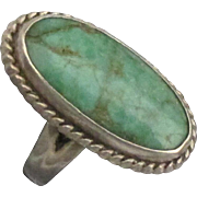 Lovely Vintage Navajo Turquoise Sterling Ring