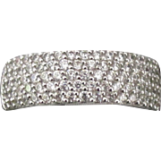 Sparkling Sterling CZ Pave Ring- Size 10 3/4