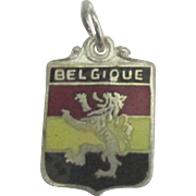 Vintage Enamel Belgium Travel Shield Charm