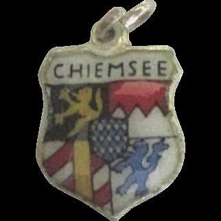 Vintage Enamel Sterling Vilseck Germany Travel Shield Charm
