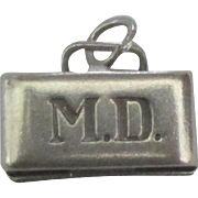 Vintage Sterling MD Doctor Bag Charm