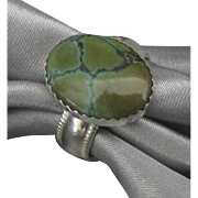 Vintage Nevada Turquoise Sterling Ring- Size 6