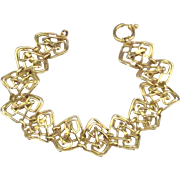 Stunning Vintage Italian 14K (585) Gold Bracelet with Wide Open Work Links