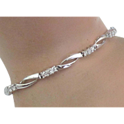 Stunning 10K White Gold Diamond Bracelet