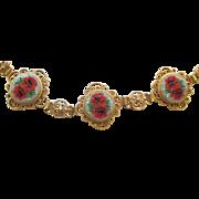 Vintage Ornate Italian Micro Mosaic Bracelet