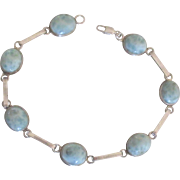 Lovely Blue Larimar Sterling Bracelet