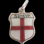 Vintage 935 Sterling Geneva Switzerland Travel Shield Charm