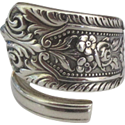 Chunky Vintage Morland Sterling Wrap Ring