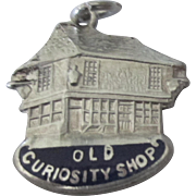 "Vintage English Sterling Enamel Dickens ""Old Curiosity Shop"" Charm"