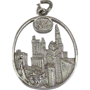 Vintage Sterling New York City Sky Line Pendant or Charm