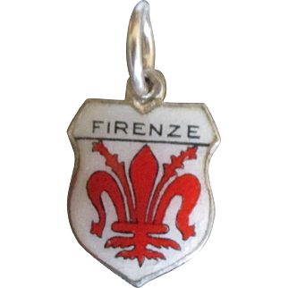 Vintage Firenze Florence Italy Travel Shield