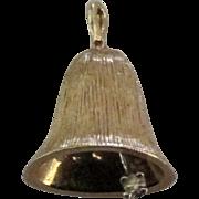 Lovely Vintage 14K Diamond Bell Pendant