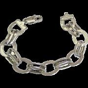 Vintage Italian Sterling Chunky Open Ring Bracelet