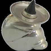 Vintage Sterling Mexican Siesta Figural Perfume Bottle